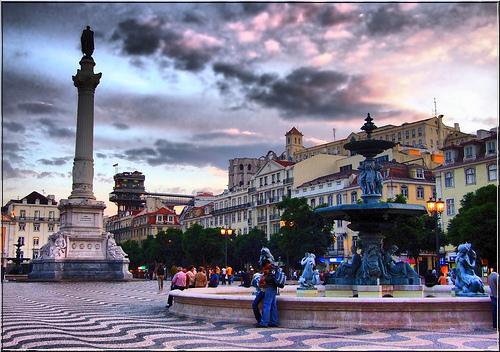 Plaza Rossio en Lisboa